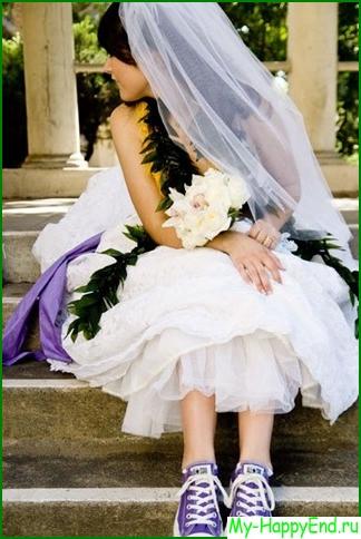 Кроссовки для невест
