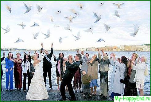 Нужно ли запускать голубей на свадьбе?