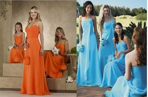вечерние платья для подружек невесты