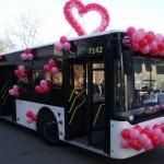 Автобус для свадьбы на заказ