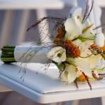 Букет из искусственных цветов на свадьбу
