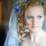 Макияж для невесты с голубыми глазами