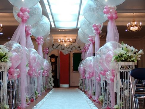 Оформление свадебного зала своими