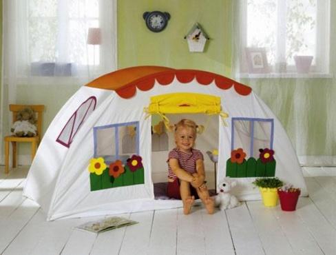 Современные игрушки: игровые детские палатки домики