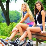 Катание на роликах полезно для здоровья и помогает похудеть