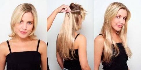 Наращивание волос и уход з ними