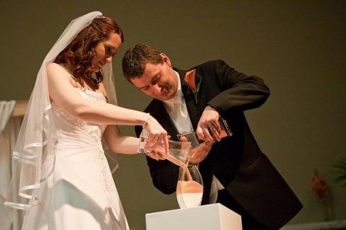 Песочная церемония на свадьбу