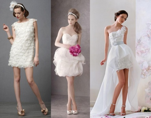 Короткие свадебные платья 2014