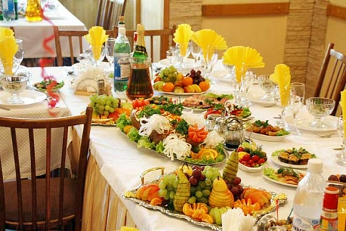 Каким должно быть свадебное меню?