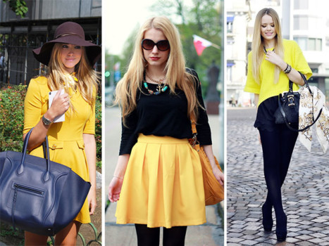 Сочетание черного и желтого цветов